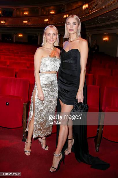 German actress Janin Ullmann and model and presenter Lena Gercke attend the GQ Men of the Year Award after show party at Komische Oper on November 7...