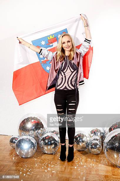 German actress Janin Ullmann starting for Thuringia attend the 'Deutschland tanzt' photo call at Soho House on October 27 2016 in Berlin Germany
