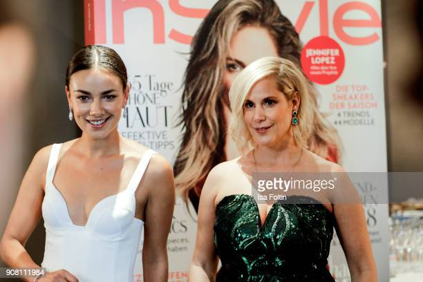 German actress Janina Uhse and director Anika Decker during the Burda Style Lounge on the occasion of the German Film Ball on January 20 2018 in...