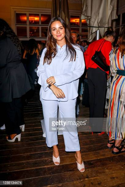 German actress Janina Uhse attends the Fashion Council Firesidechat during the Mercedes-Benz Fashion Week Berlin September 2021 at Borchardt on...