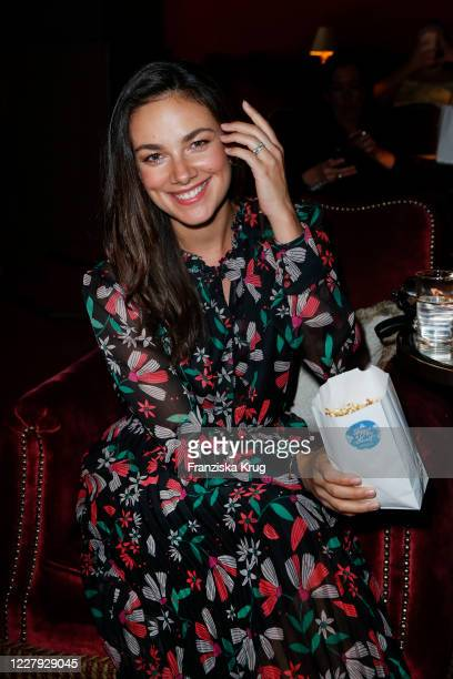 German actress Janina Uhse dressed by Marc Cain during the Marc Cain Spring/Summer 2021 screening at Soho House on August 5, 2020 in Berlin, Germany.