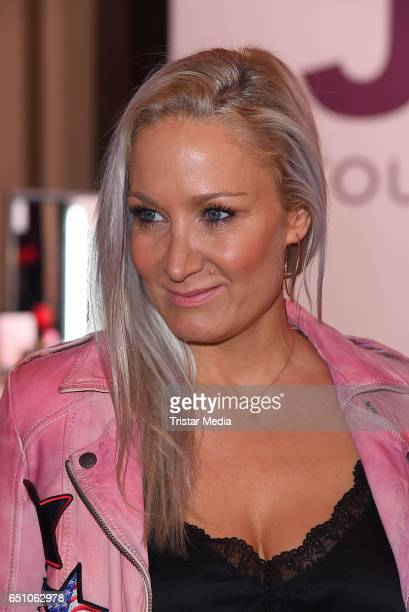 German actress Janine Kunze attends the JT Touristik Pink Carpet party at Hotel De Rome on March 9 2017 in Berlin Germany