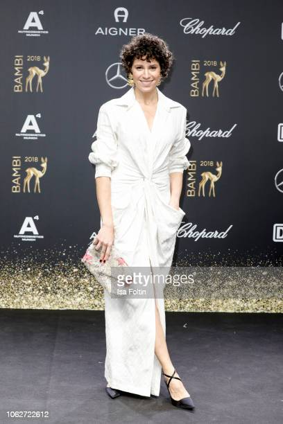 German actress Jasmin Gerat attends the 70th Bambi Awards at Stage Theater on November 16, 2018 in Berlin, Germany.
