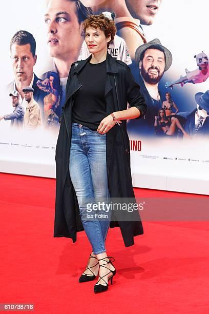 German actress Jasmin Gerat attends the 'Unsere Zeit ist jetzt' World Premiere at CineStar on September 27 2016 in Berlin Germany