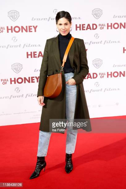 "German actress Jasmin Gerat during the ""Head full of Honey"" premiere at Zoo Palast on March 12, 2019 in Berlin, Germany."