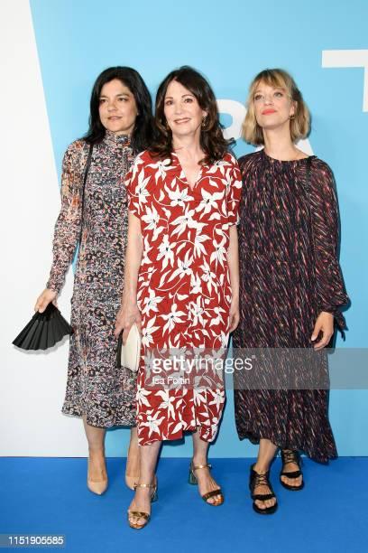 German actress Jasmin Tabatabai, German actress Iris Berben and German actress Heike Makatsch attend the summer party of the German Producers...