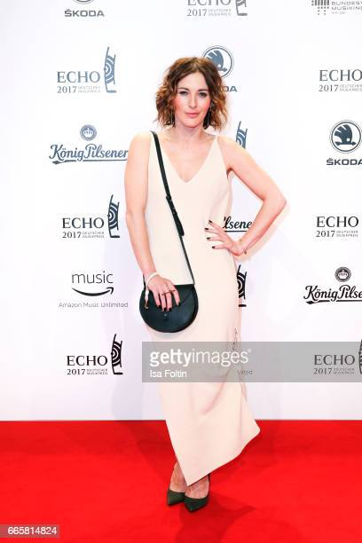 German actress Jeannine Michaelsen during the Echo award red carpet on April 6 2017 in Berlin Germany