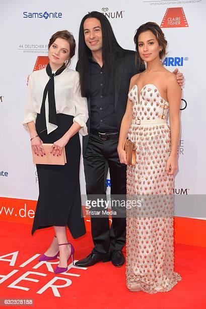 German actress Jella Haase german comedian Buelent Ceylan and german actress Gizem Emre attend the German Film Ball 2017 at Hotel Bayerischer Hof on...