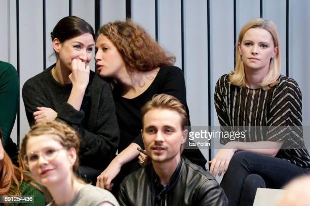 German actress Jennifer Ulrich and German actor Constantin von Jascheroff during the discussion panel of Clich'e Bashing 'soziale Netzwerke Real vs...