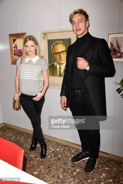 German actress Jennifer Ulrich and german actor Timmi Trinks attend the Good bye Lenin Revival Premiere on May 1 2017 in Berlin Germany