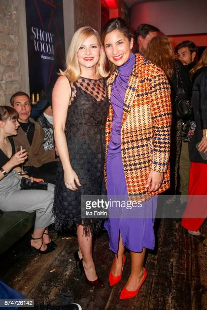 German actress Jennifer Ulrich and German actress Chryssanthi Kavazi during the New Faces Award Style 2017 at The Grand on November 15 2017 in Berlin...