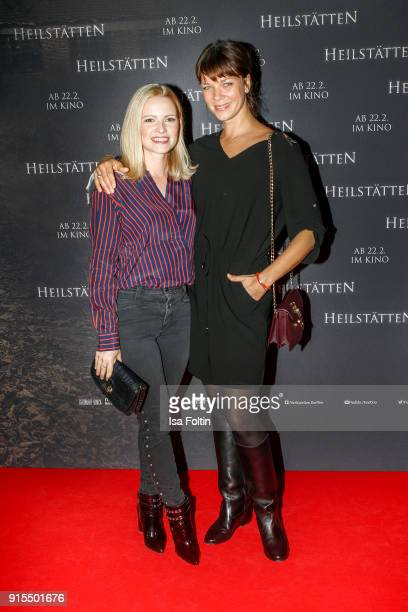 German actress Jennifer Ulrich and German actress Jessica Schwarz attend the 'Heilstaetten' premiere at Delphi on February 7 2018 in Berlin Germany