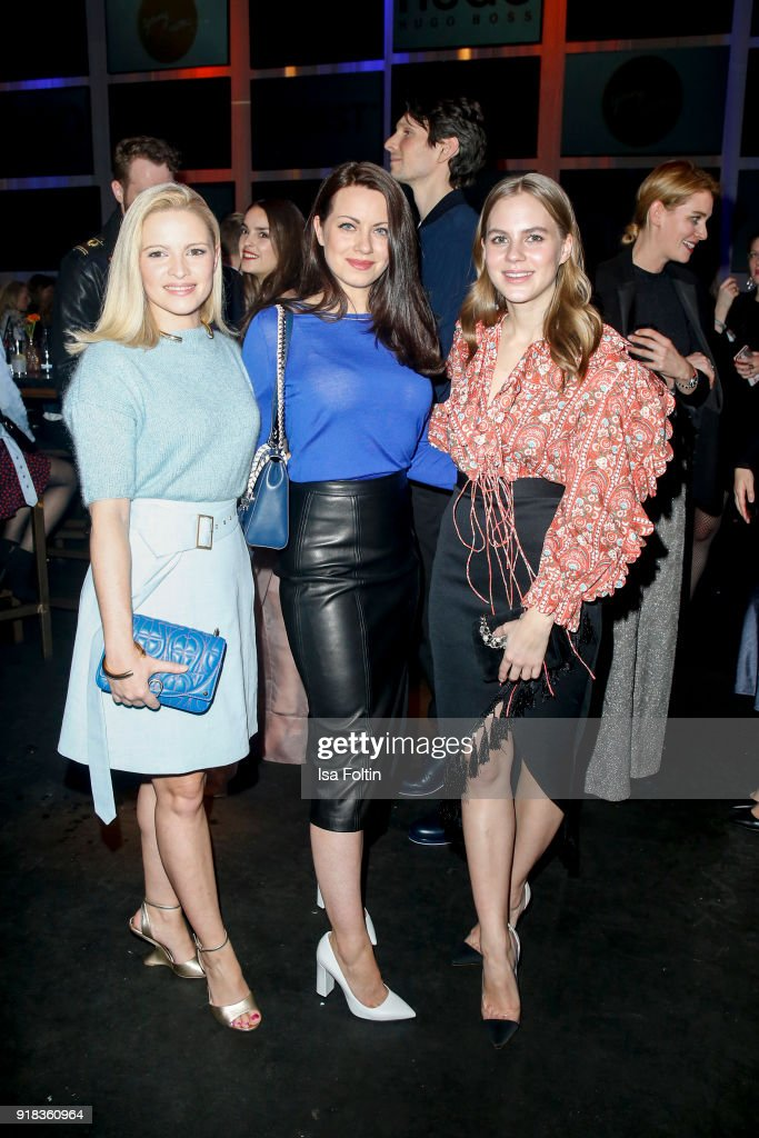 German actress Jennifer Ulrich, German actress Alice Dwyer and German actress Alicia von Rittberg attend the Young ICONs Award in cooperation with ICONIST at BRLO Brwhouse on February 14, 2018 in Berlin, Germany.