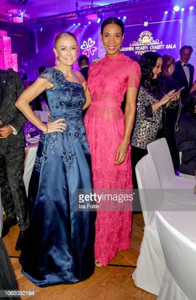 German actress Jenny Elvers and German presenter Annabelle Mandeng during the 10th Laughing Hearts Charity Gala at Grand Hyatt Hotel on November 24...