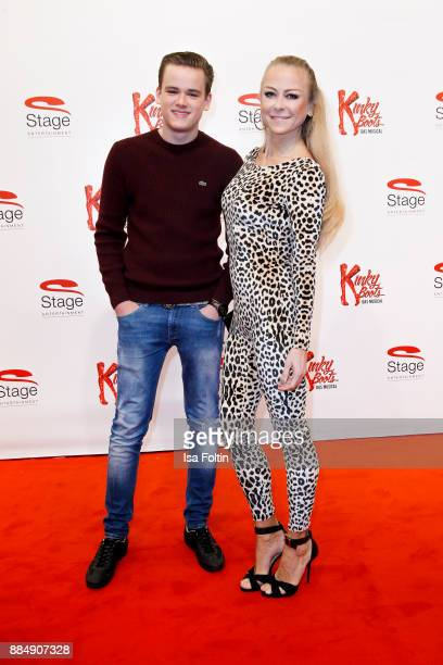 German actress Jenny Elvers and her son Paul Elvers attend the 'Kinky Boots' Musical Premiere at Stage Operettenhaus on December 3 2017 in Hamburg...