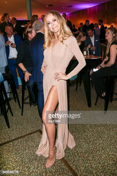 German actress Jenny Elvers during the Echo Award after show party at Palais am Funkturm on April 12 2018 in Berlin Germany