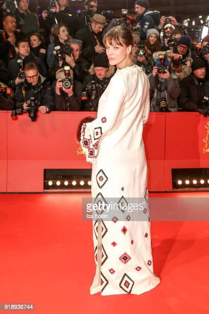 German actress Jessica Schwarz attends the Opening Ceremony 'Isle of Dogs' premiere during the 68th Berlinale International Film Festival Berlin at...