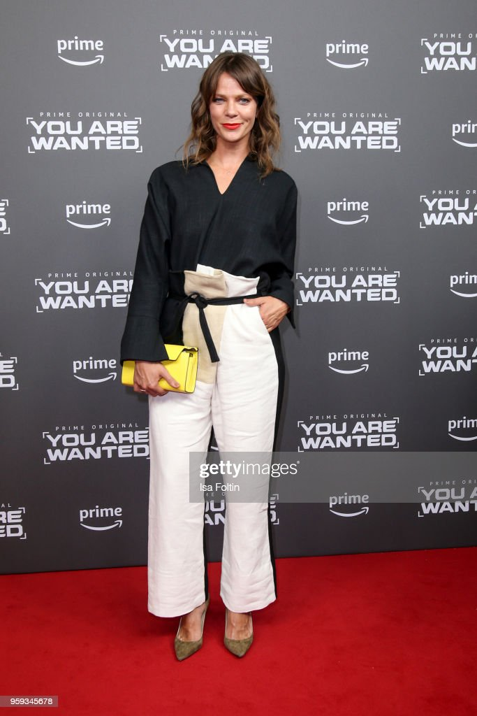 German actress Jessica Schwarz attends the premiere of the second season of 'You are wanted' at Filmtheater am Friedrichshain on May 16, 2018 in Berlin, Germany.