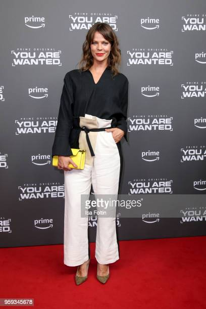 German actress Jessica Schwarz attends the premiere of the second season of 'You are wanted' at Filmtheater am Friedrichshain on May 16 2018 in...