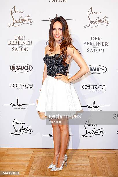 German actress Johanna Klum attends the Marina Hoermanseder defilee during the Der Berliner Mode Salon Spring/Summer 2017 at Kronprinzenpalais on...