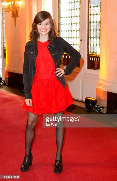 German actress Joyce Ilg attends the premiere of the musical 'Der Gloeckner von Notre Dame' on April 9 2017 in Berlin Germany