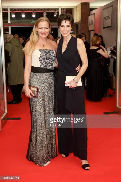 German actress Judith Hoersch and German actress Julia Bremermann attend the Deutscher Hoerfilmpreis at Kino International on March 20 2018 in Berlin...