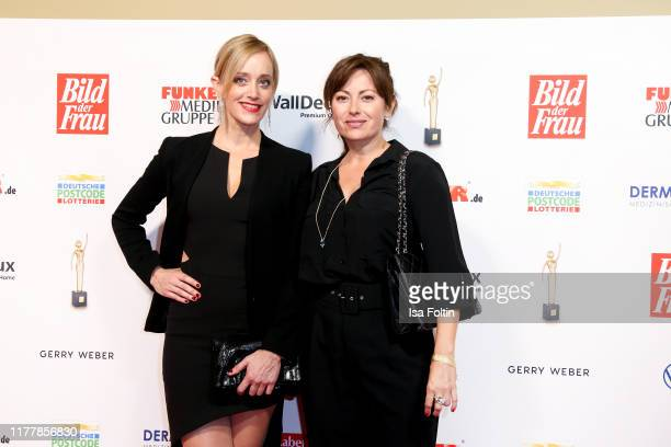 German actress Judith Richter and German actress Carolina Vera attend the annual Goldene Bild der Frau award on October 23 2019 in Hamburg Germany