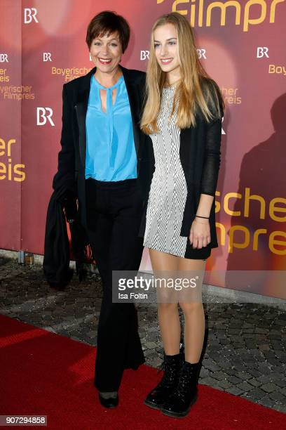 German actress Jule Ronstedt and her daughter Helena Ronstedt attend the Bayerischer Filmpreis 2017 at Prinzregententheater on January 21 2018 in...