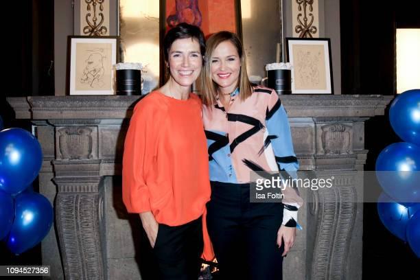 German actress Julia Bremermann and German actress Judith Hoersch attend the Blaue Blume Awards at Restaurant Grosz on February 6 2019 in Berlin...