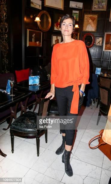 German actress Julia Bremermann attends the Blaue Blume Awards at Restaurant Grosz on February 6 2019 in Berlin Germany