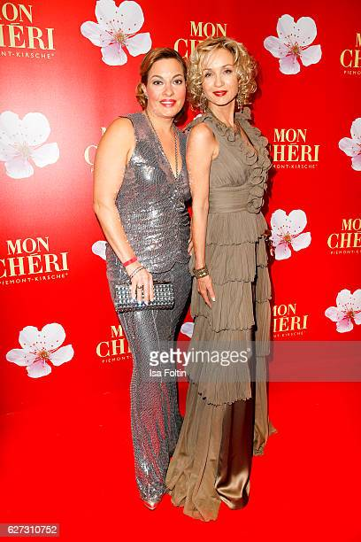 German actress Julia Dahmen and german actress Isabella Huebner attend the Mon Cheri Barbara Tag at Postpalast on December 2 2016 in Munich Germany