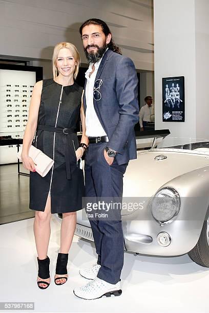 German actress Julia Dietze and german actor Numan Acar suit shirt watch Aviator by Porsche Design attend the 5th Nachtschicht Berlin Design Night on...