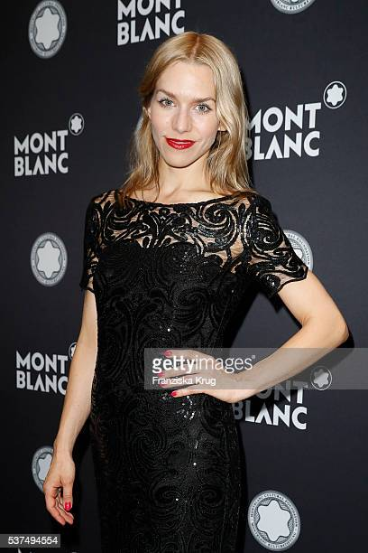 German actress Julia Dietze attends the Montblanc De La Culture Arts Patronage Award 2016 at Historisches Pumpwerk on June 01 2016 in Berlin Germany