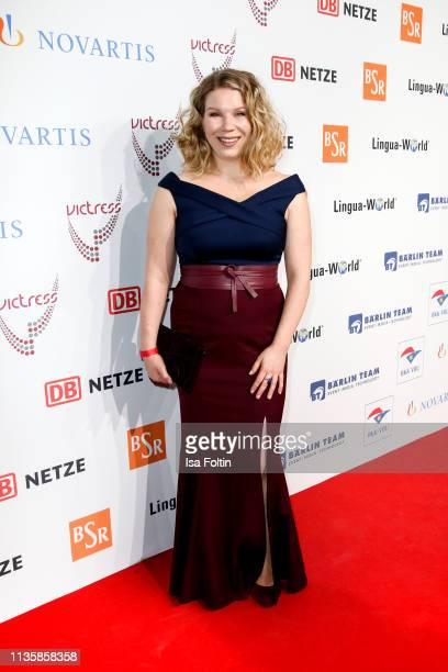 German actress Julia Effertz attends the annual Victress Awards gala at Universitaet der Kuenste on April 8 2019 in Berlin Germany