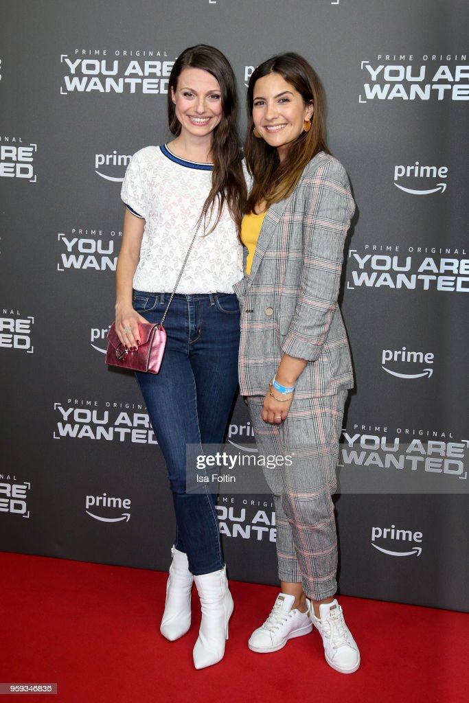 German actress Julia Hartmann and German actress Chryssanthi Kavazi attend the premiere of the second season of 'You are wanted' at Filmtheater am Friedrichshain on May 16, 2018 in Berlin, Germany.
