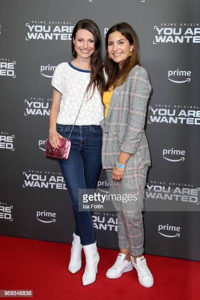 German actress Julia Hartmann and German actress Chryssanthi Kavazi attend the premiere of the second season of 'You are wanted' at Filmtheater am...