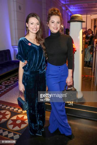 German actress Julia Hartmann and German actress Klara Deutschmann attend the Blue Hour Reception hosted by ARD during the 68th Berlinale...