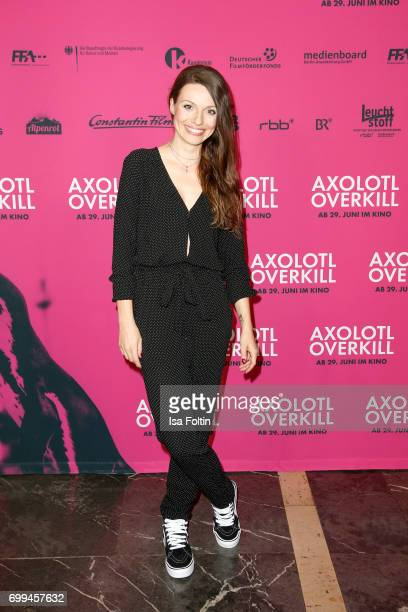 German actress Julia Hartmann attends the 'Axolotl Overkill' Berlin Premiere at Volksbuehne RosaLuxemburgPlatz on June 21 2017 in Berlin Germany