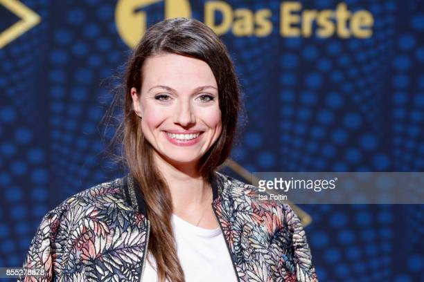 German actress Julia Hartmann attends the 'Babylon Berlin' Premiere at Berlin Ensemble on September 28 2017 in Berlin Germany