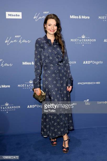 German actress Julia Hartmann attends the Blue Hour Party hosted by ARD during the 69th Berlinale International Film Festival at Haus der...