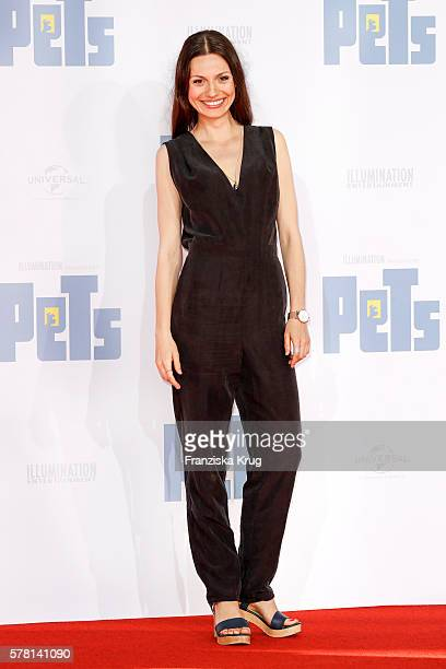 German actress Julia Hartmann attends the premiere of the film 'PETS' at CineStar on July 20 2016 in Berlin Germany