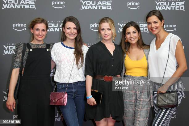 German actress Julia Hartmann German actress Nina Gummich Chryssanthi Kavazi Susan Hoecke and guest attend the premiere of the second season of 'You...