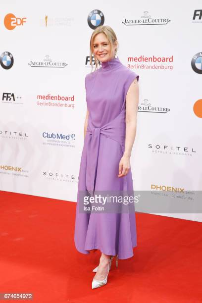 German actress Julia Jentsch during the Lola German Film Award red carpet arrivals at Messe Berlin on April 28 2017 in Berlin Germany