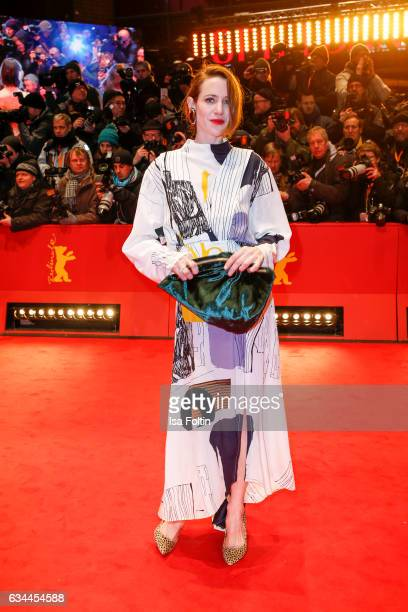 German actress Julia Malik attends the 'Django' premiere during the 67th Berlinale International Film Festival Berlin at Berlinale Palace on February...