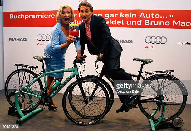 German actress Jutta Speidel and her Italian partner and actor Bruno Maccallini present their new book 'We don't even have a car' about their bicycle...