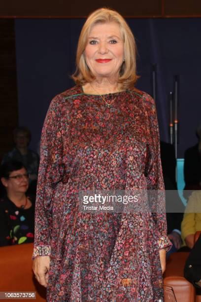 German actress Jutta Speidel during the 'NDR Talk Show' on November 16, 2018 in Hamburg, Germany.