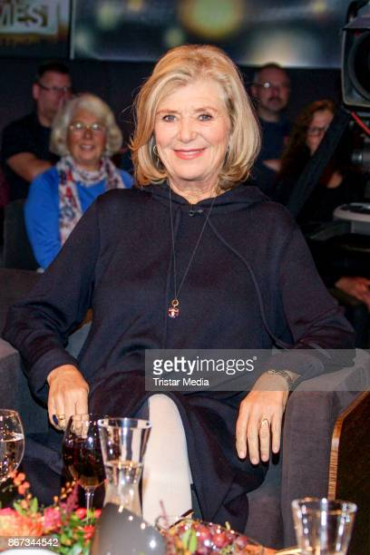 German actress Jutta Speidel during the TV Show 'Tietjen und Bommes' on October 27 2017 in Hanover Germany