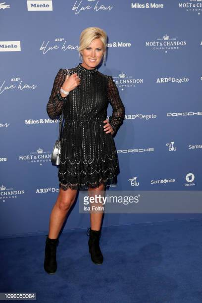 German actress Kamilla Senjo attends the Blue Hour Party hosted by ARD during the 69th Berlinale International Film Festival at Haus der...