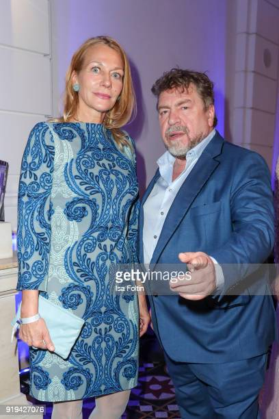 German actress Karen Boehne and german actor Armin Rohde attends the Blue Hour Reception hosted by ARD during the 68th Berlinale International Film...