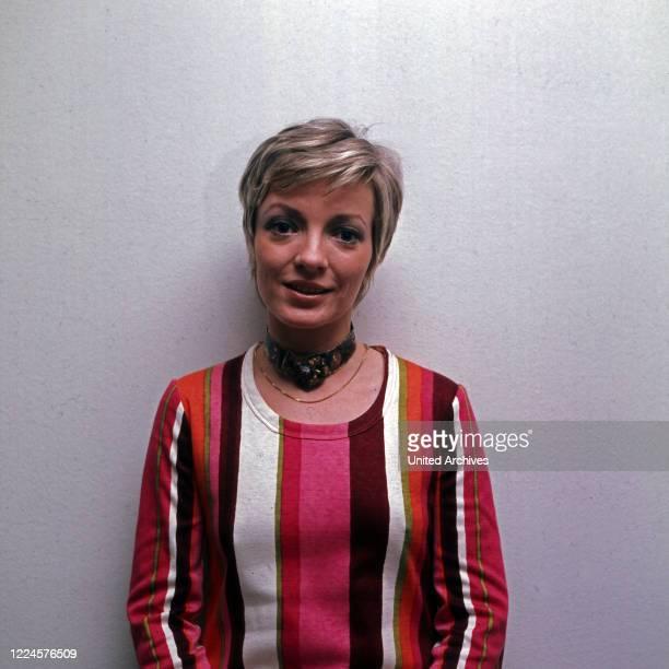 German actress Karin Anselm, Germany, 1970s.